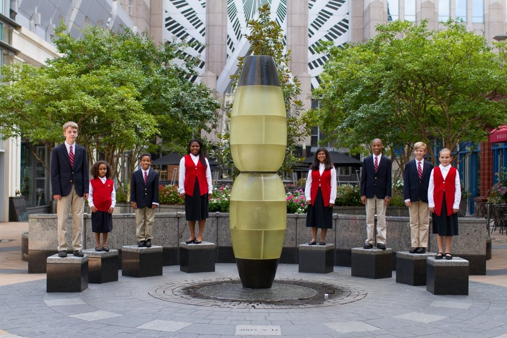 Our children's choir performs in the heart of Charlotte